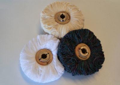 Cepillos de algodón y lana para abrillantar
