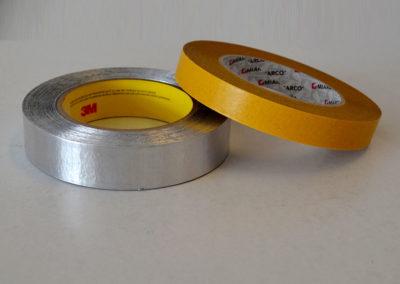 Cinta de aluminio y cinta de doble cara