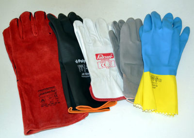 Guantes anticalor / Jet Black / piel / nylon / Duo Plus