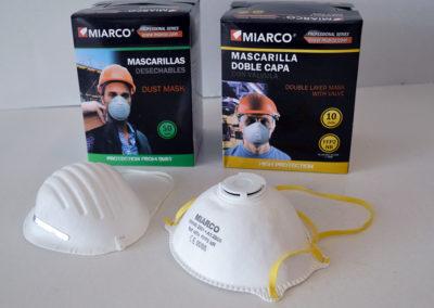 Mascarilla Miarco desechable / doble capa con válvula