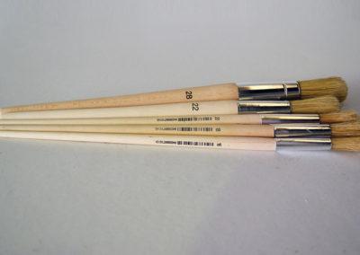 Pinceles de madera cabo redondo